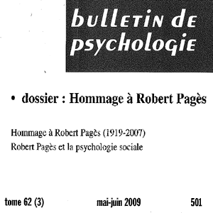 Bulletin Psychologique : Robert Pagès